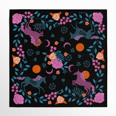 Magic Unicorns Silk Scarf: Note 3-4 week processing time