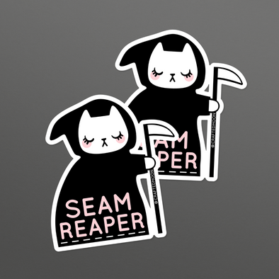 Seam Ripper Cat Sticker 2 PACK