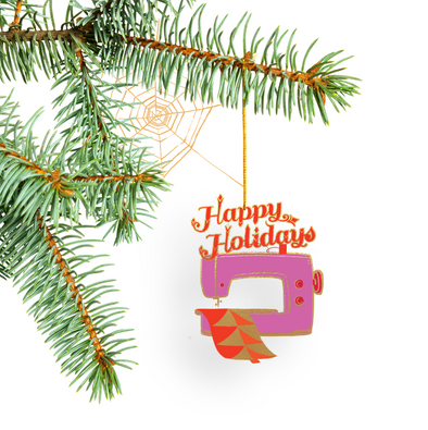 **Preorder**Special Edition Happy Holidays Sewing Machine Tree Ornament