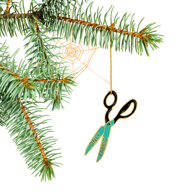 **Preorder**Special Edition Fabric Only Scissors Tree Ornament
