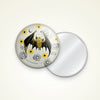 "3"" Bat Floral Pocket Mirror"