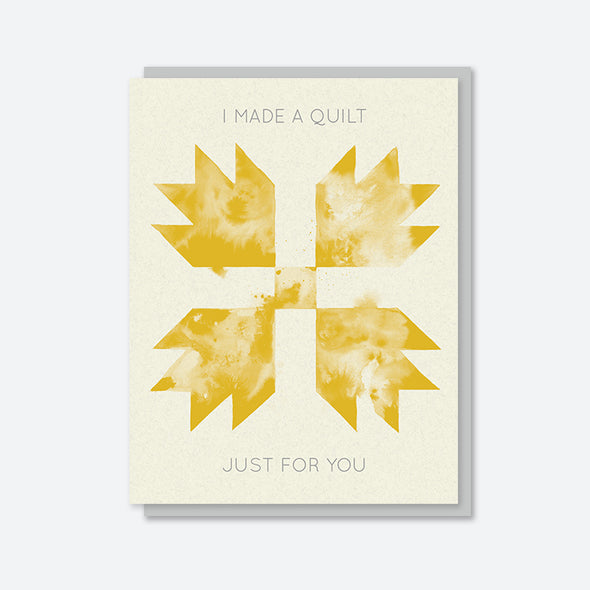 """I Made You Something"" Yellow Bear Paw Card"