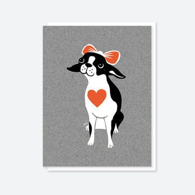 Boston Terrier Blank Card