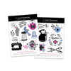 "Large A5 Temporary Tattoos ""Sewing Love"" Set"