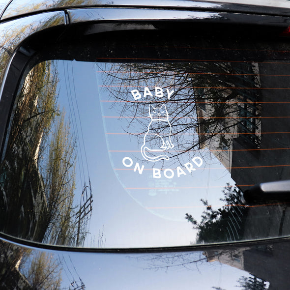 Cat Baby on Board Decal SVG File