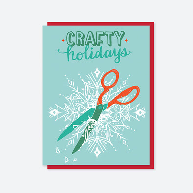 Crafty Holidays Scissors Card