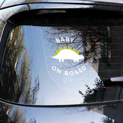 Dino Baby on Board Decal SVG File