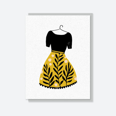New Dress Blank Card