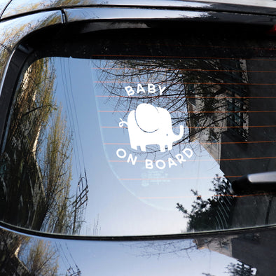 Elephant Baby on Board Decal SVG File