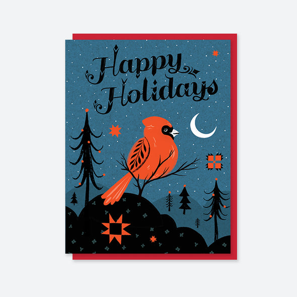 Happy Holidays Cardinal Card