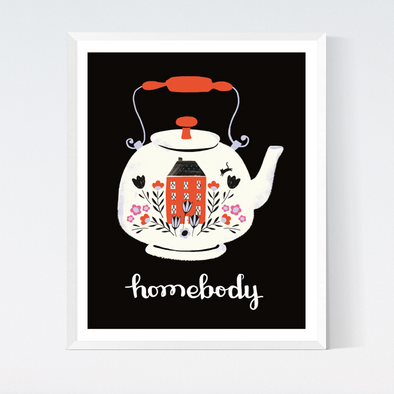 Homebody Teapot Art Print