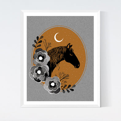 Midnight Horse Art Print