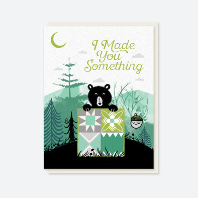 """I Made You Something"" Bear Quilt Card"
