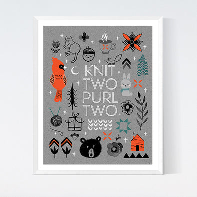 Knit Two Purl Two Art Print