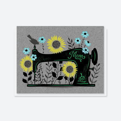 """Mom"" Sewing Machine Card"