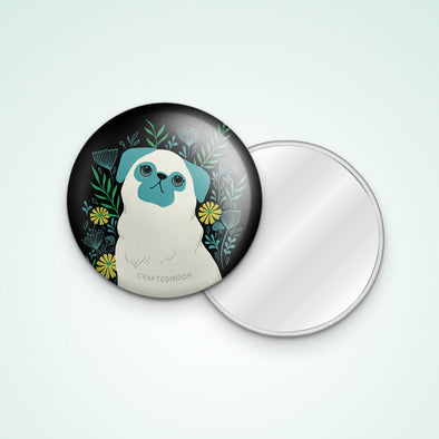"3"" Pug Pocket Mirror"