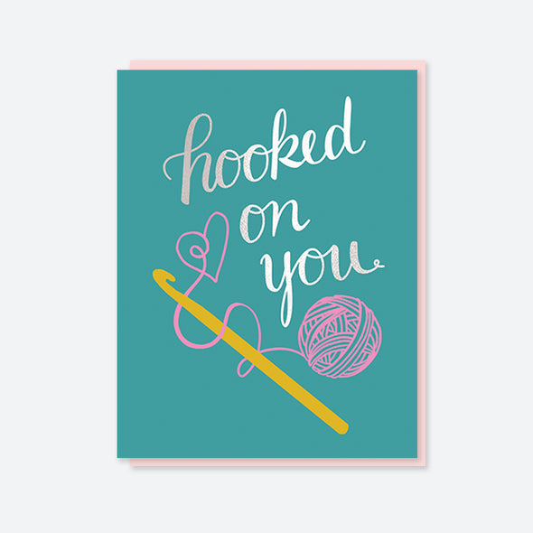 Hooked on You Silver Foil Card