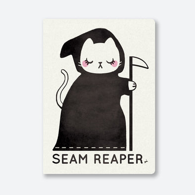 """Seam Reaper"" White A5 Journal"