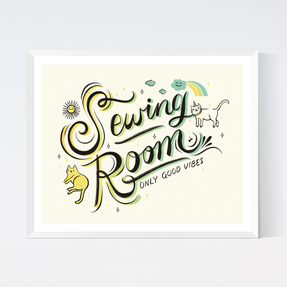 Sewing Room Art Print