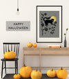 Limited Edition Halloween Screen Printed Poster with Gold Ink