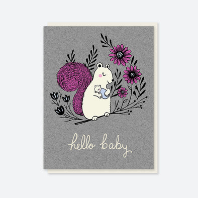 """Hello Baby"" Baby Shower Card"