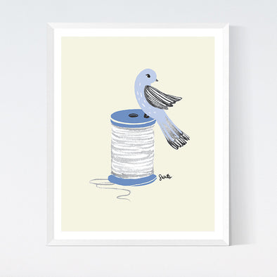 Thread Bird Art Print