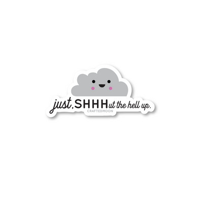 Quiet Cloud Sticker