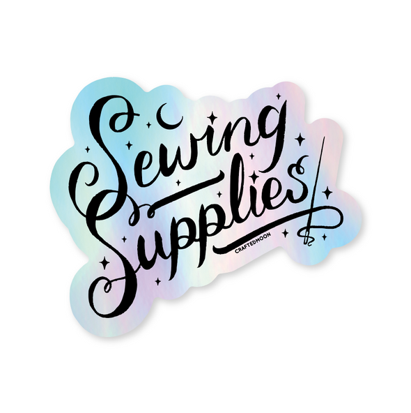 Holographic Sewing Supplies Sticker