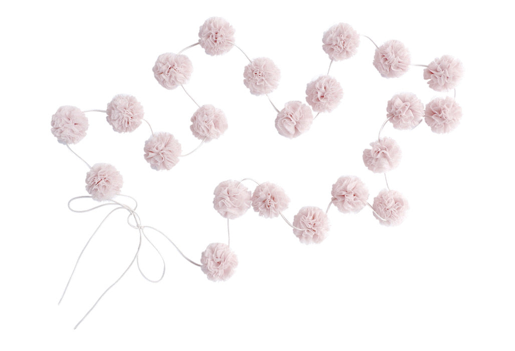 Mini Pom Garland in Pale Rose by Spinkie Baby
