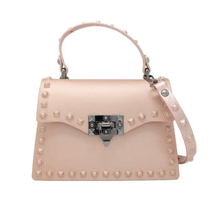 Jelly Stud Jumbo Bag in Pink