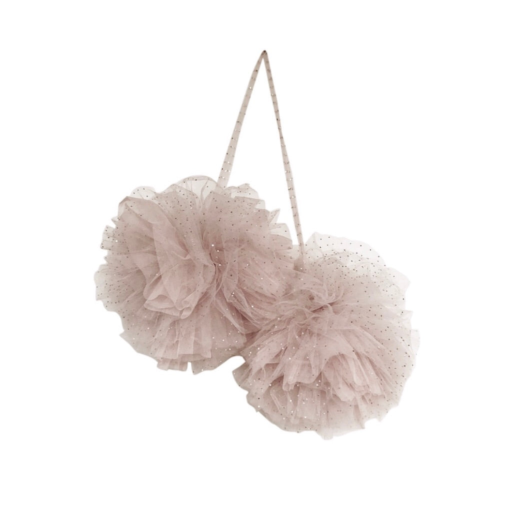 Large Sparkle Pom Pom by Spinkie Baby in Champagne