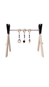 Wooden Play Gym by MINIKA in Black
