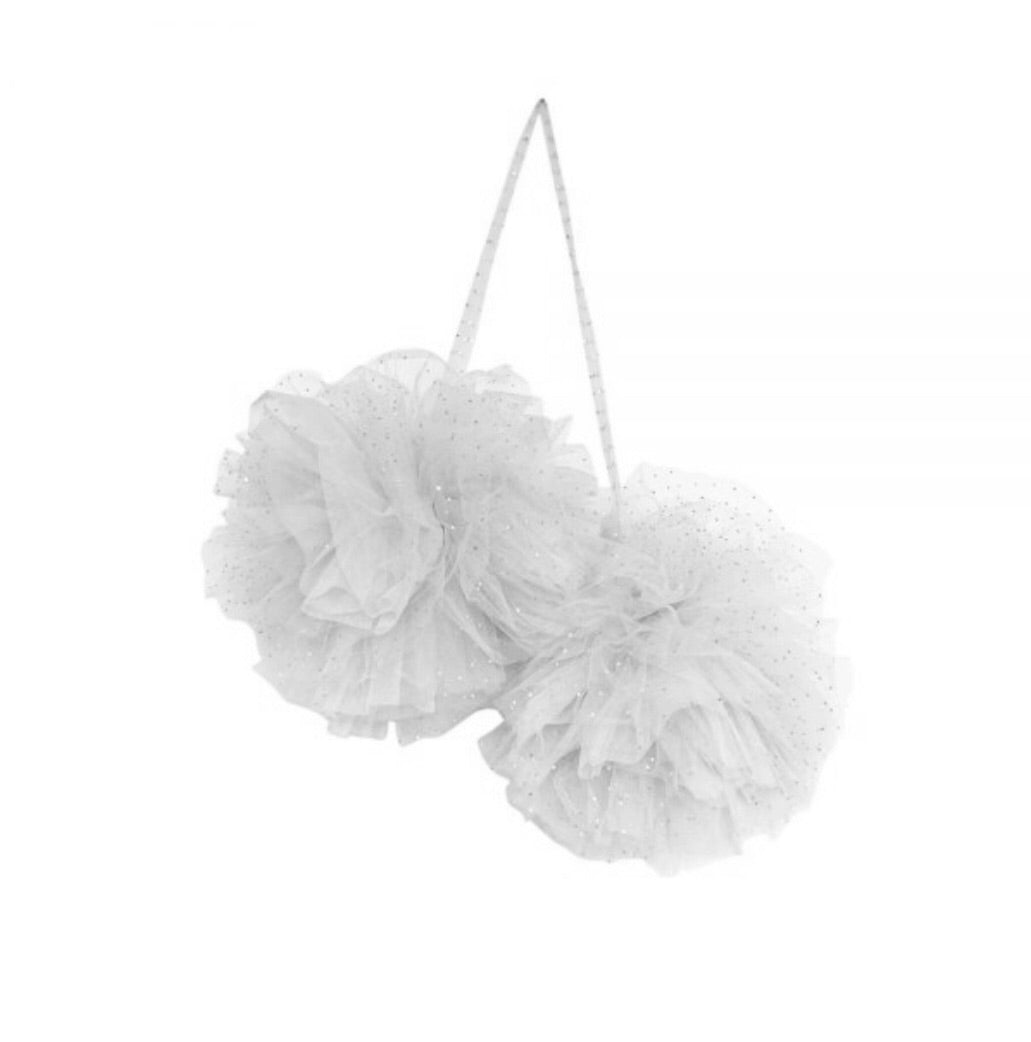 Large Sparkle Pom Pom by Spinkie Baby in Cloud