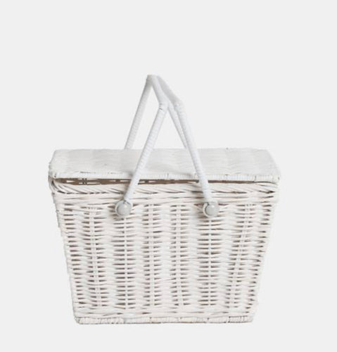 Piki Basket in in White by Olliella