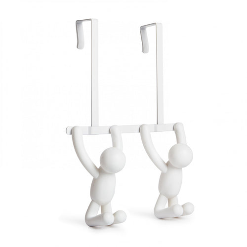 BUDDY over the door HOOKS in WHITE