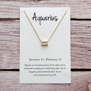 Womens Zodiac Sign Necklace