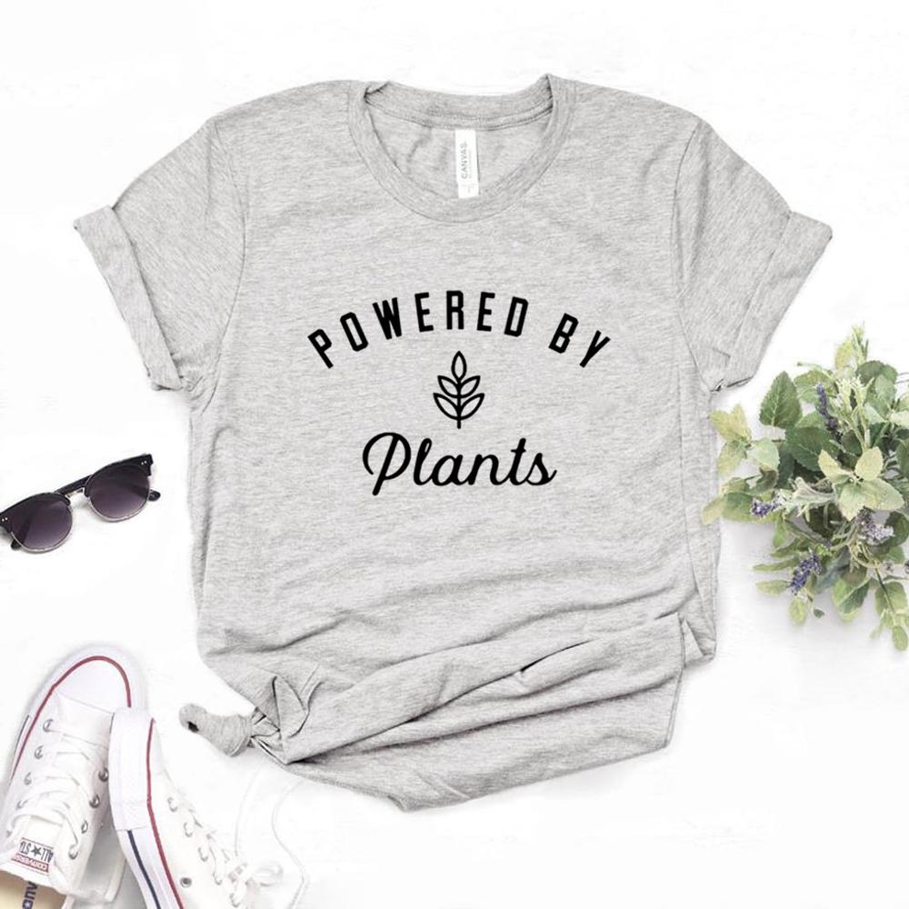 Powered By Plants Women Cotton T Shirt