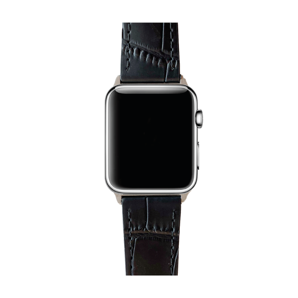 APPLE WATCH BAND BLACK CROC