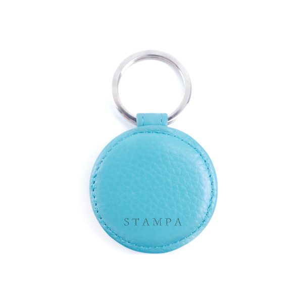 Teal Key Ring - s-t-a-m-p-a