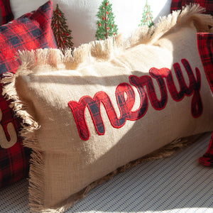 Peking Handicraft - Merry Embroidered Applique Pillow