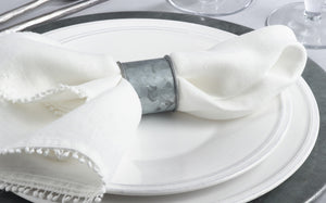 Galvanized Napkin Rings