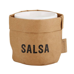 Salsa Holder and Ceramic Dish