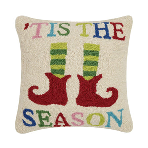 Peking Handicraft - Tis The Season Elf Hook Pillow - Christmas