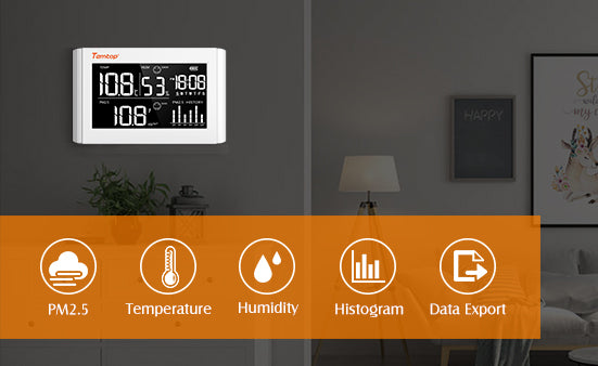 air quality meter wall- mount device temperature, humidity and PM 2.5