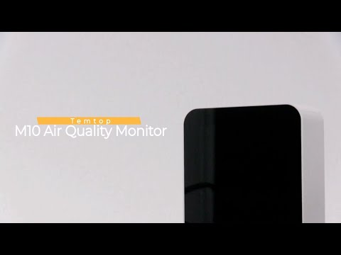 Temtop M10 Real-time Air Quality Monitor - PM2.5 -HCHO -TVOC- AQI-Electrochemical Sensor-Rechargeable Battery