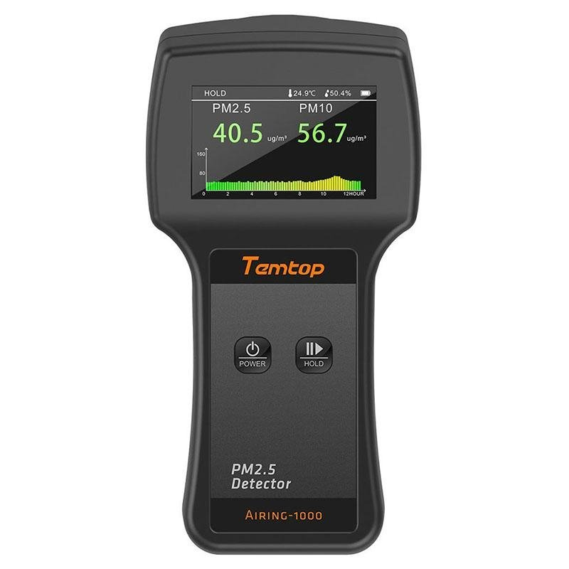 Temtop Airing-1000 Air Quality Monitor Real Time Display High Accuracy PM2.5/PM10 Detector - Temtop