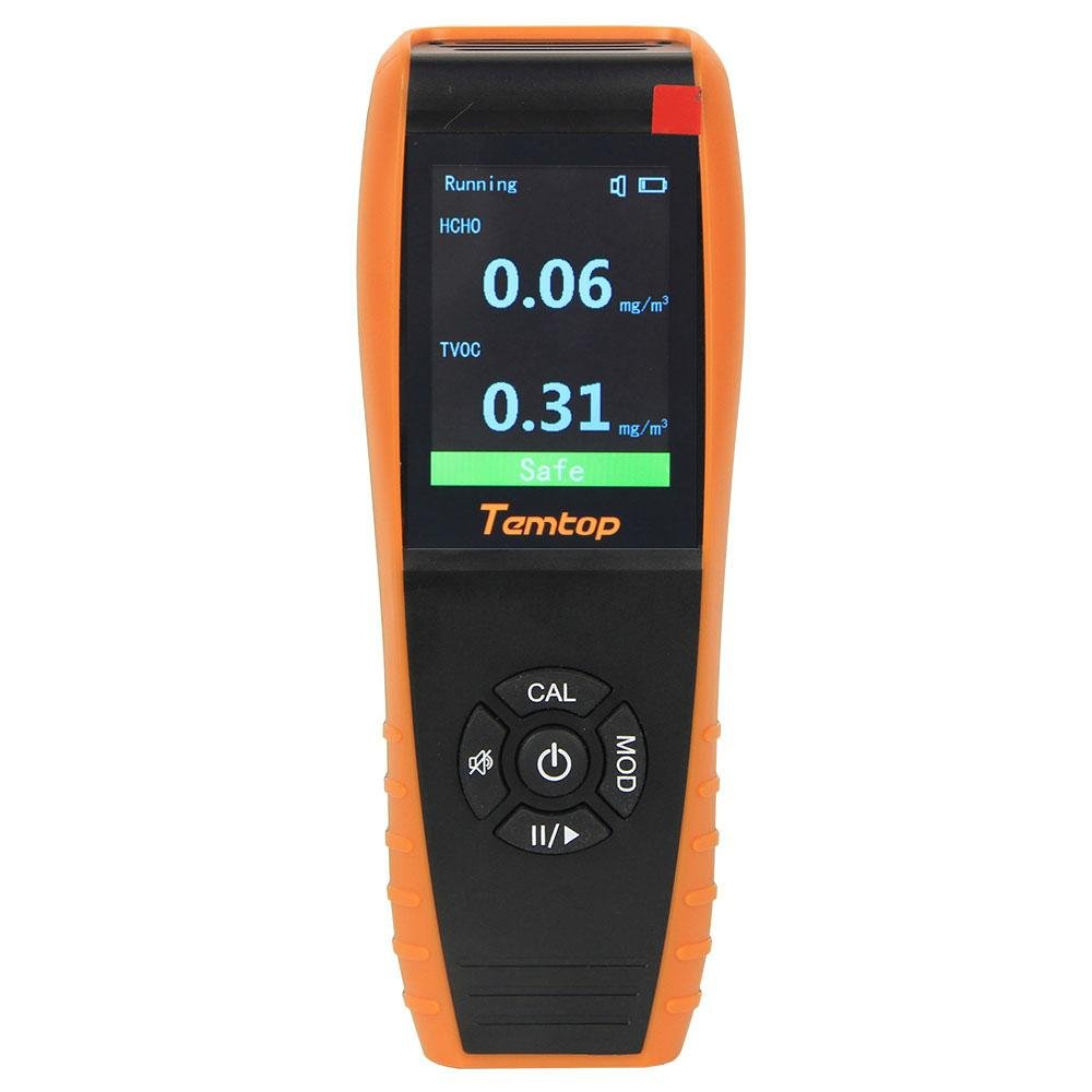 Temtop H3 Air Quality Detector Professional HCHO TVOC Real Time Monitor Audio Alarm TFT Color Screen Rechargeable - Temtop US