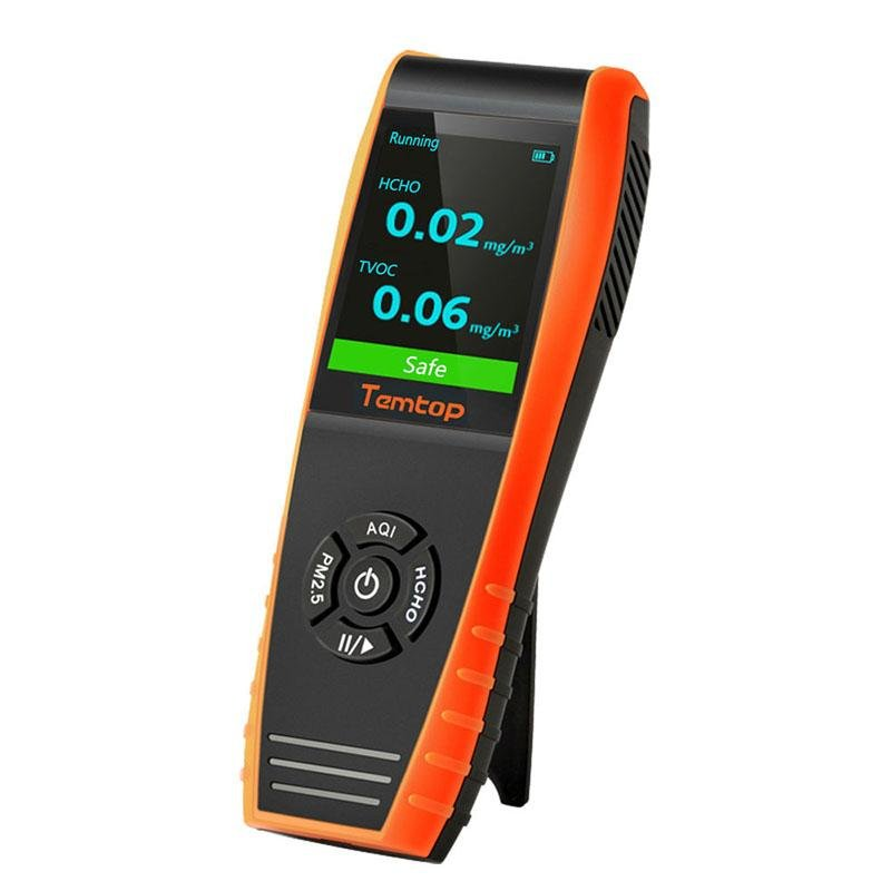 Temtop LKC-1000S+ Air Quality Detector Professional Formaldehyde Monitor Detector with HCHO/PM2.5/PM10/TVOC - Temtop US
