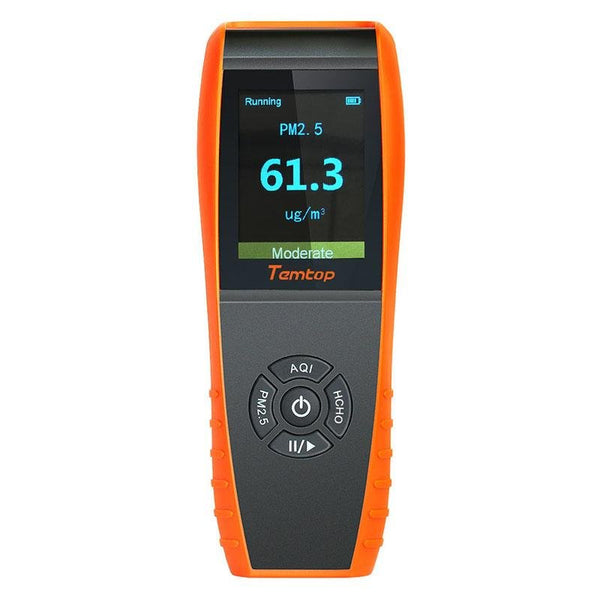 Temtop LKC-1000S Air Quality Detector Professional Formaldehyde Monitor Temperature and Humidity Detector with PM2.5/PM10/HCHO/AQI/Particles - Temtop US
