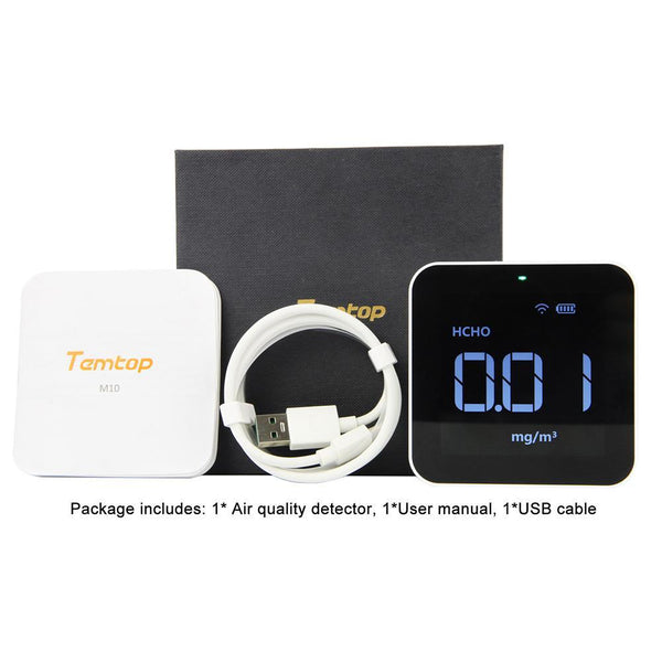 Temtop M10i Wireless Air Quality Monitor for PM2.5 HCHO TVOC AQI Professional Electrochemical Sensor Detector Real Time Display Data Exported - Temtop US